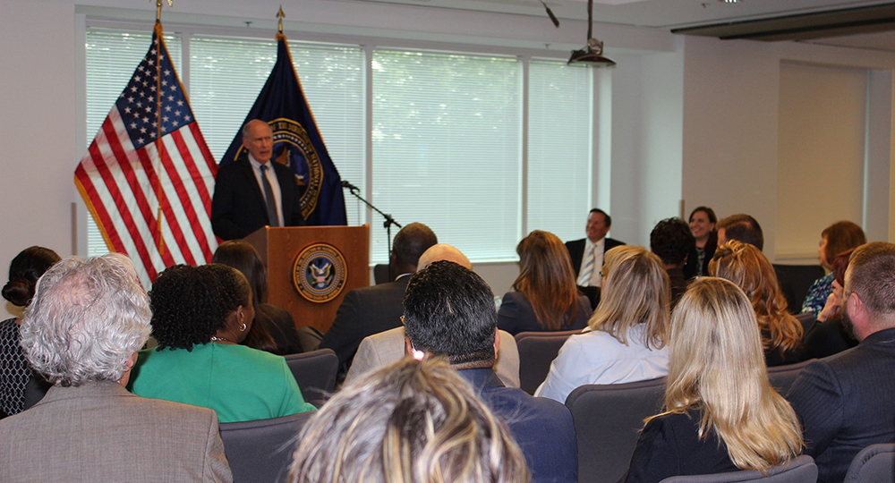DNI Dan Coats speaks at town hall with ICIG