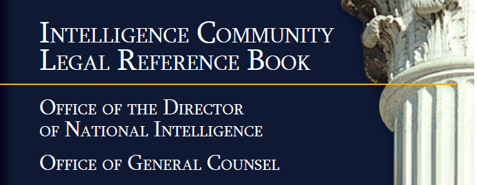 IC Legal Reference Book Banner - ODNI General Counsel Office