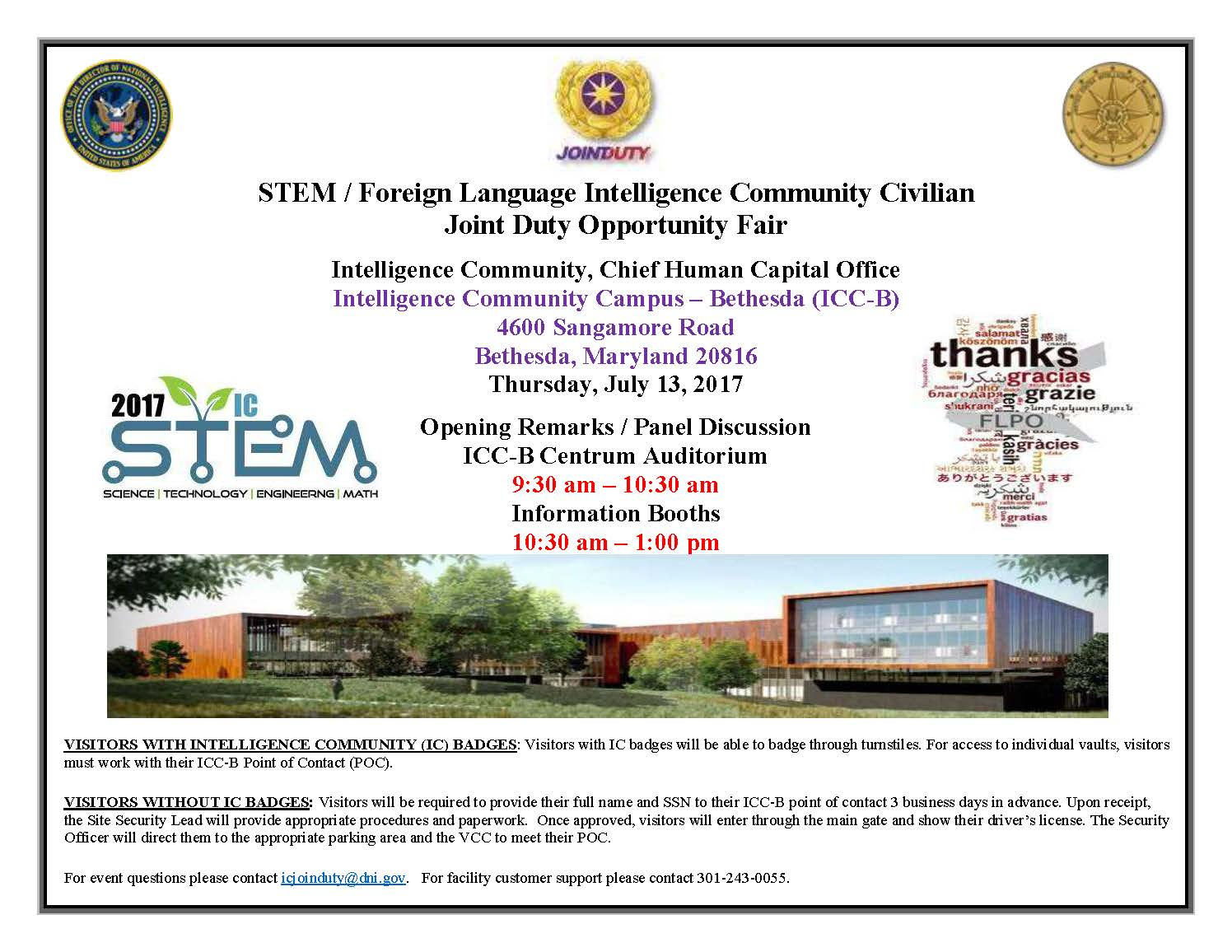 STEM/Foreign Language Intelligence Community Civilian Joint Duty Opportunity Fair
