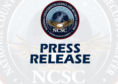 Press Release - NCSC Unveils the National Counterintelligence Strategy of the U.S. 2020-2022