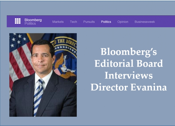 Bloomberg's Editorial Board interviews Director Evanina