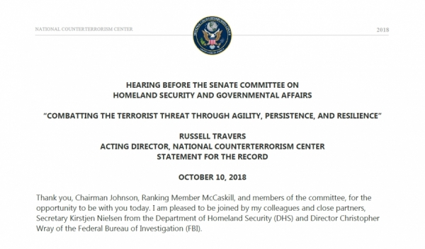 Hearing Before the Senate Committee on Homeland Security and Governmental Affairs