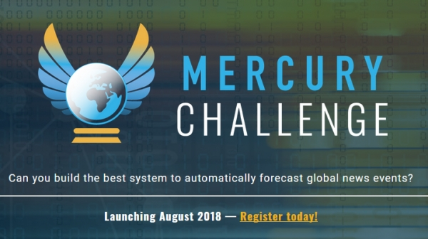 IARPA Announces the Mercury Challenge - To Develop Innovative Forecasts for Events Across the Middle East