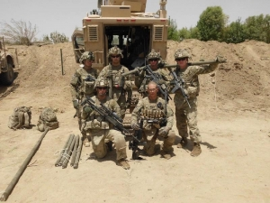 Griffin and members of his squad in Kandahar, Afghanistan.