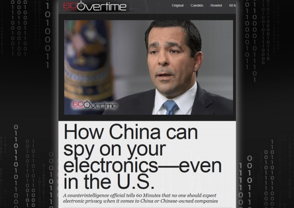 CBS' 60 Minutes interviewed NCSC Director Evanina on the threat of Chinese espionage against the United States